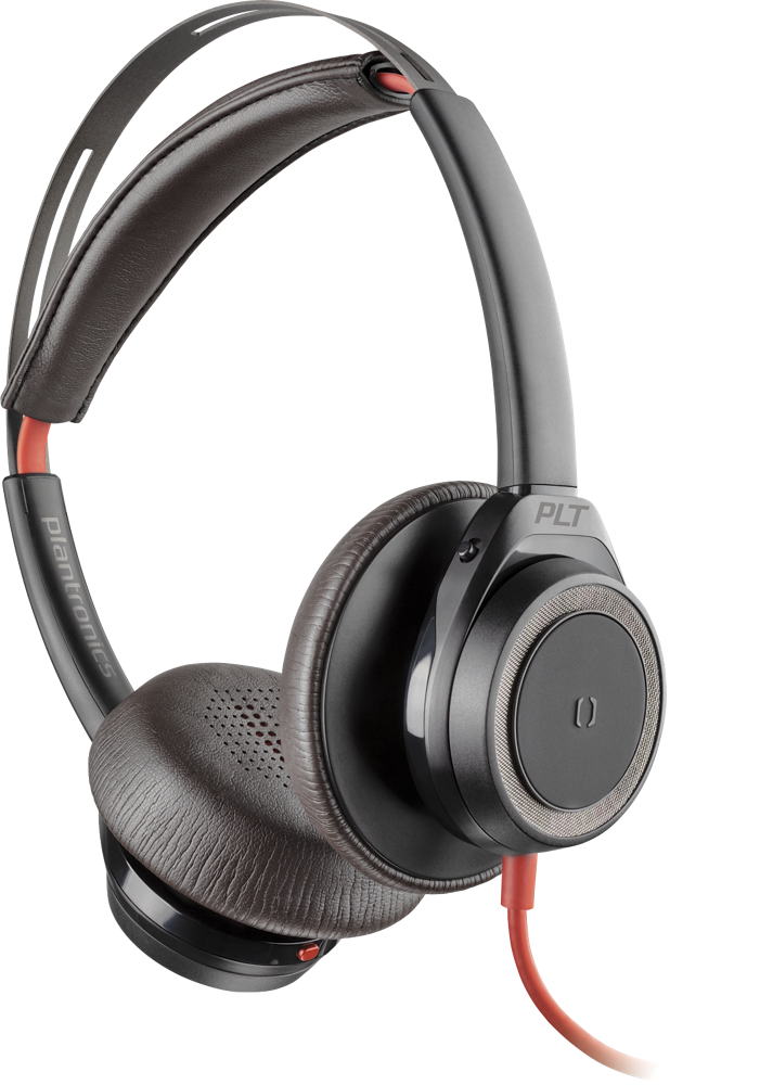 Blackwire 7225 Corded Boomless Stereo Headset With Active Noise Canceling Poly Formerly Plantronics Polycom