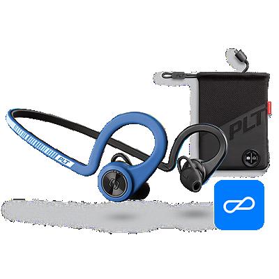 BackBeatFITBoostEdition, Power Blue, comprend un étui de chargement