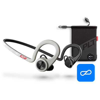 BackBeatFITBoostEdition, Sport Grey, comprend un étui de chargement