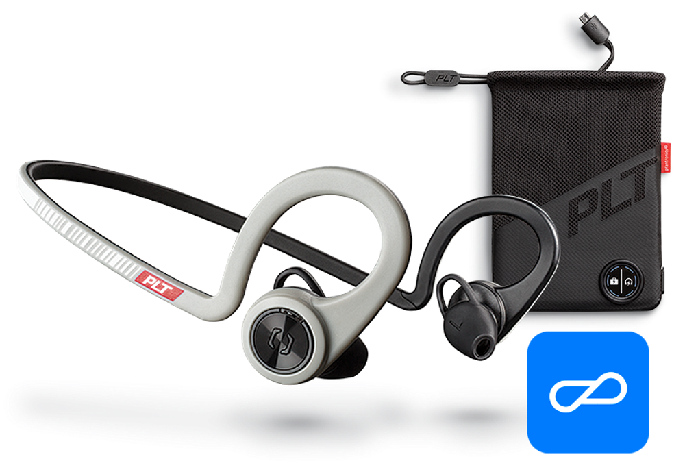 BackBeat FIT Boost Edition, Sport Grey, includes charging pouch