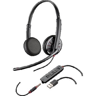 Blackwire 325, Over-the-head, Binaural, Microsoft