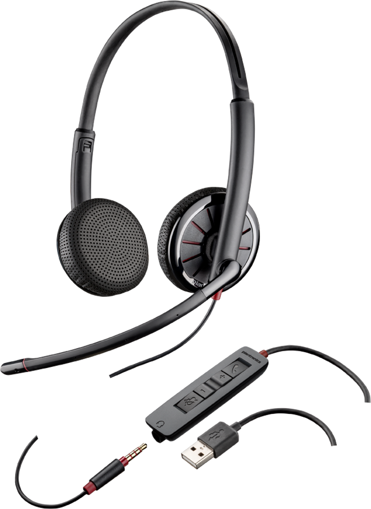 Blackwire 325: Kopfbügelmodell, binaural, Microsoft