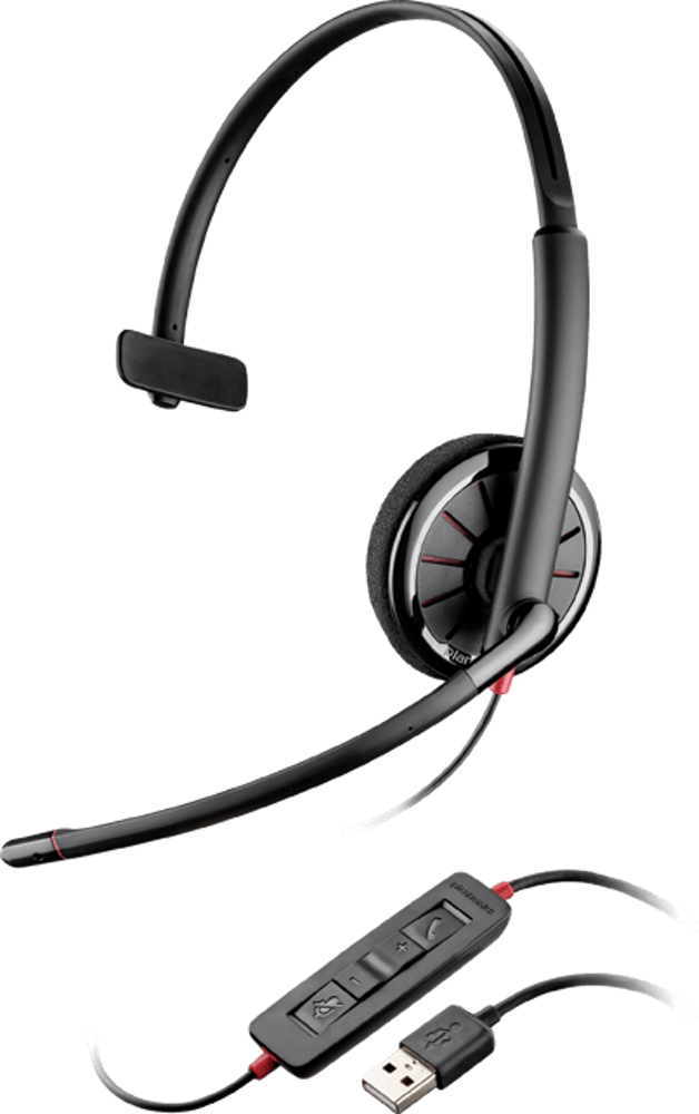 Blackwire 310, Over-the-head, Monaural, Microsoft