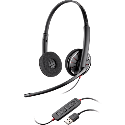 Blackwire 320, Over-the-head, Binaural, Standard