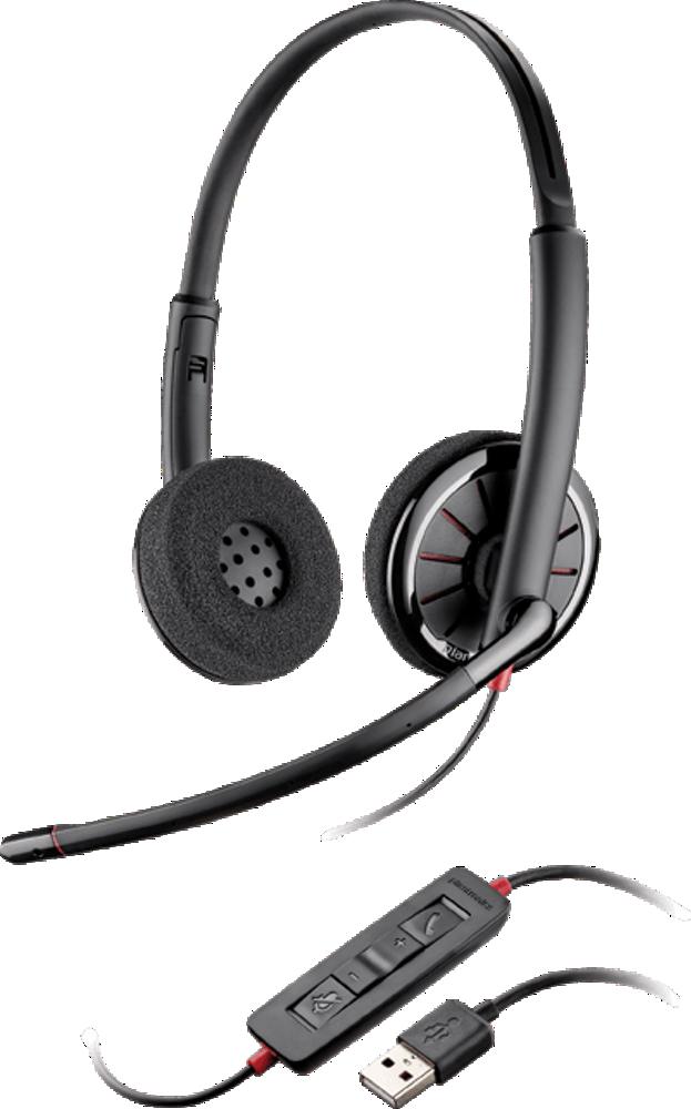 Blackwire 320、オーバーヘッド式、両耳タイプ、標準