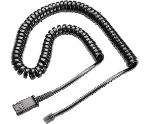 Cable enrollado a enchufe modular de desconexión rápida