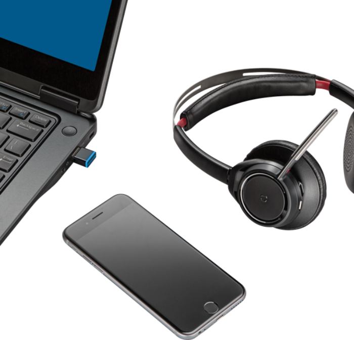 Voyager Focus Uc Stereo Bluetooth Headset Poly Formerly Plantronics Polycom